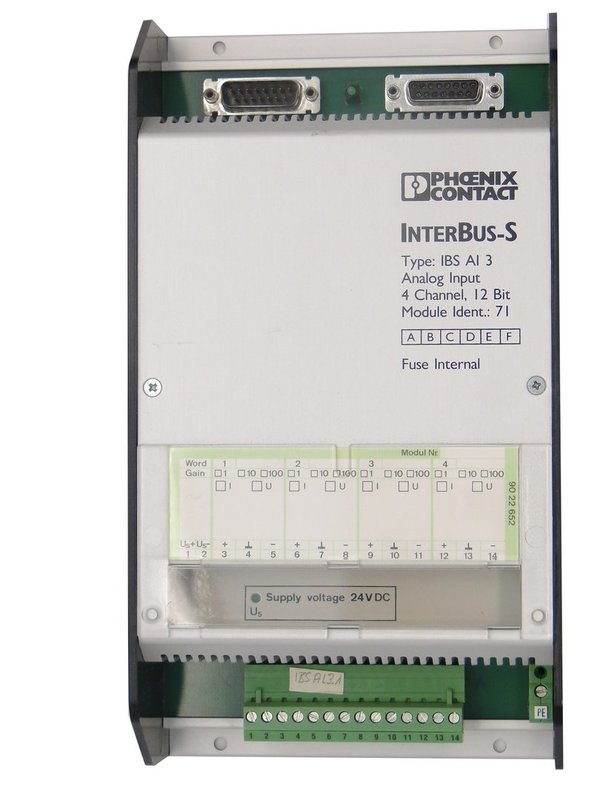 IBS AI 3 or IBSAI3 Phoenix Contact InterBus-S Analog Input